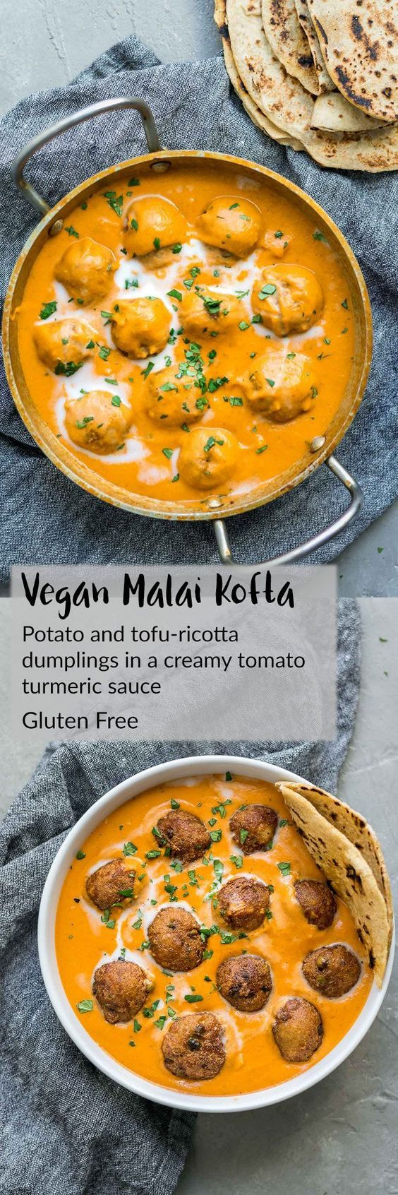 Vegan Malai Kofta: Indian dumplings in a curry tomato cream sauce   A vegan and naturally gluten free recipe. Enjoy with Indian flatbread or basmati rice.  thecuriouschickpea.com #vegan #veganrecipe #Indianfood #glutenfree