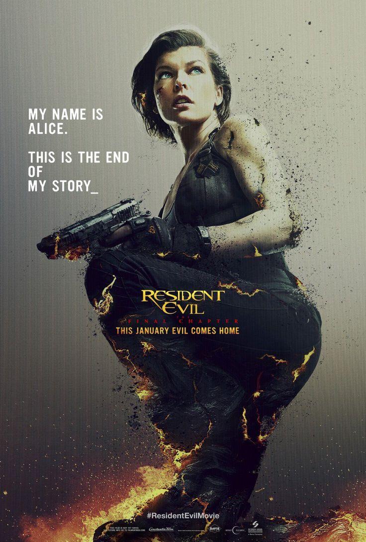 Nuevo póster de Resident Evil: The Final Chapter   Cine PREMIERE
