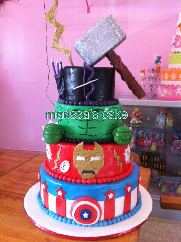 Avengers Birthday Cake Cake For Boy Pinterest
