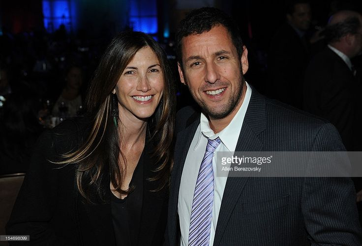 Actor Adam Sandler (R) and wife Jackie Sandler attend the Fulfillment Fund Stars Gala at The Beverly Hilton Hotel on October 24, 2012 in Beverly Hills, California.