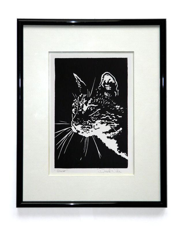 Cat Linocut £12.50 #folksyfriday
