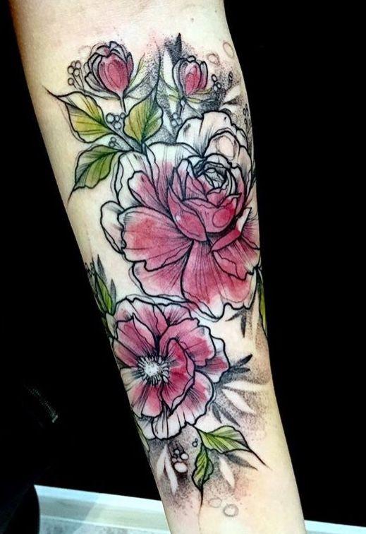 Katt Kot Flower Tattoo Tattoos Pinterest Flower Tattoos