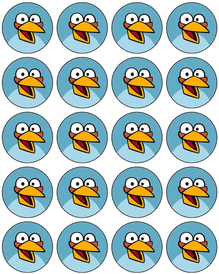 Angry Bird Cupcake Toppers .... free to use & free to share <3