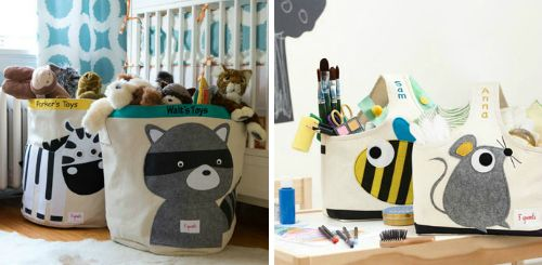 Cute baby gift that Mom will thank you for - toy bins for storage!