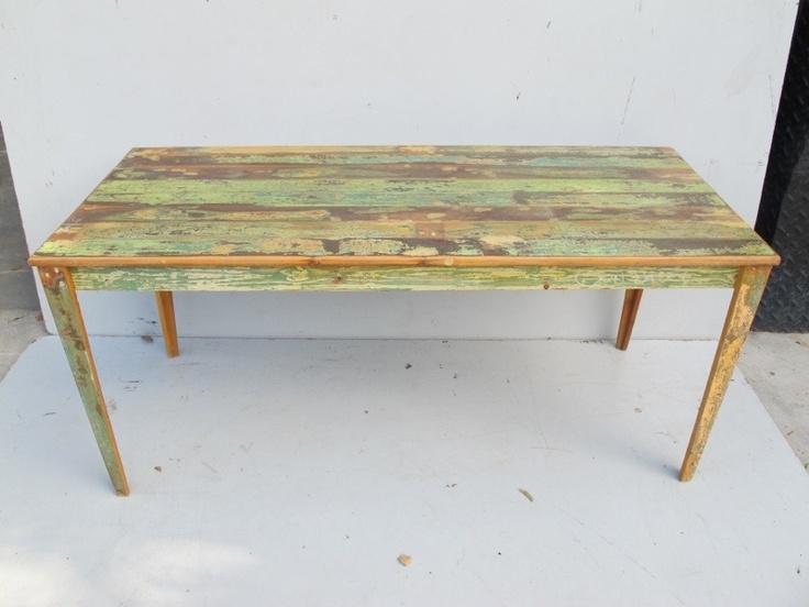 Espectacular mesa de comedor rustica patinada 10901 - Sillas de comedor usadas ...