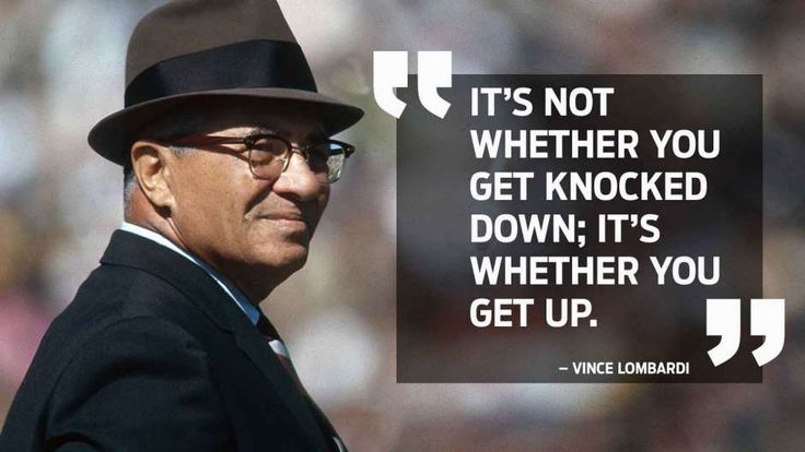 Knocked down? 7 great sports quotes that will pick you back up | Vince Lombardi