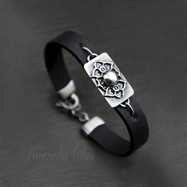 Whispers leather bracelet with silver - product images of SCHJ#jewelleryboutique
