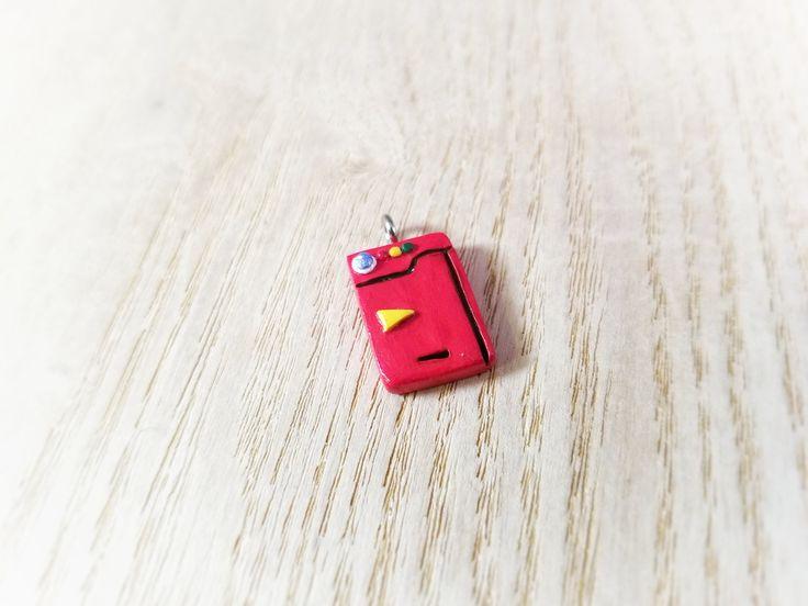 Miniature Mini Pokemon Pokedex Polymer Clay Charm, Pendant, Keychain, or Necklace, Pokemon Jewelry, Pokemon Necklace, Pokemon Birthday Party by TrinityClay on Etsy