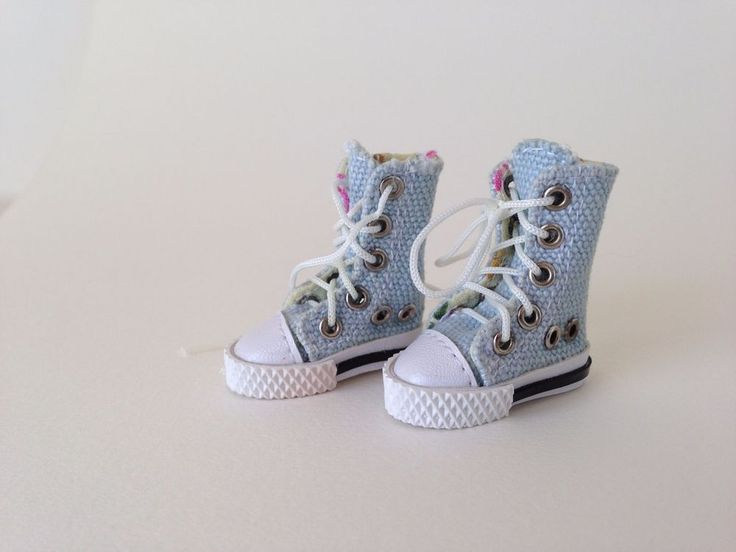 Handmade Blythe Doll Shoes - Pale blue converse boots #Unbranded #ClothingAccessories
