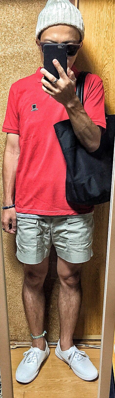 2015/07/22のコーデ cap#GLOBALWORK polo shirt#GLOBALWORK tank top#GLOBALWORK shorts#UNIQLOxmb shoes#MUJI sunglasses#GLOBALWORK tote bag#GLOBALWORK #Style #fashion #tomorrowoutfit #GLOBALWORK #UNIQLO #MUJI