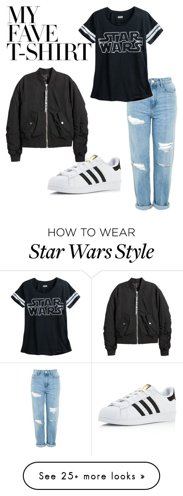 """""""Untitled #31"""" by valeriaecheverria on Polyvore featuring Topshop, adidas and MyFaveTshirt"""
