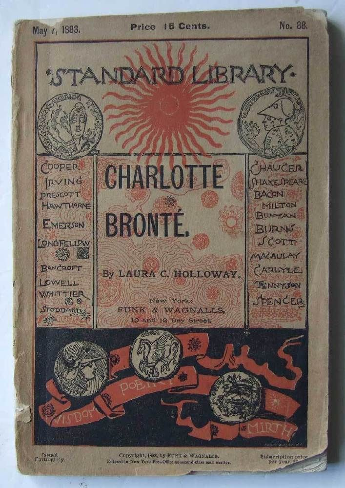 An Hour With Charlotte Bronte, Laura Holloway, 1883, biography, poems, letters in Books, Comics & Magazines, Antiquarian & Collectable | eBay