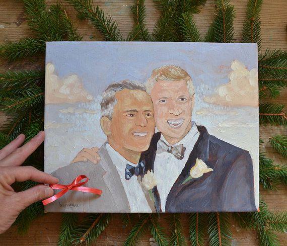 Custom LGBT Wedding Painting from Photo by BarraganPaintings