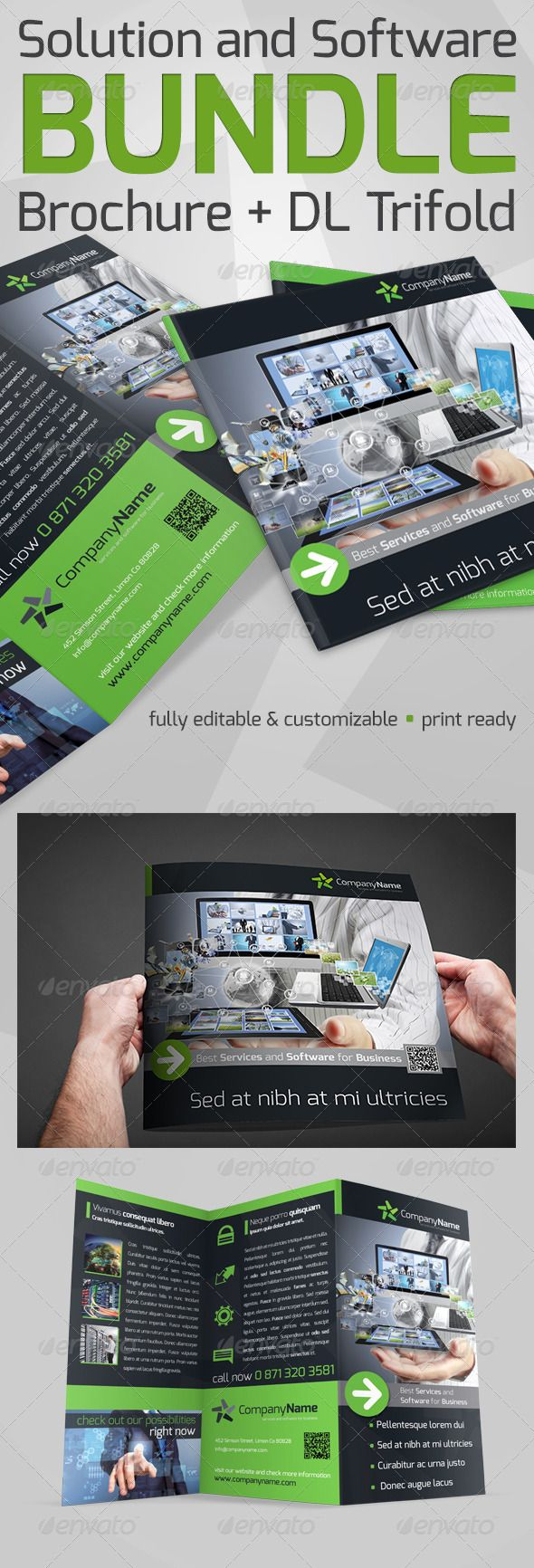 Solution And Software Bundle  Software Brochures And Print Templates