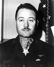 Gregory Boyington  . Lieutenant Colonel Boyington was presented with the Medal of Honor by President Harry S. Truman in October 1945 White House ceremonies.