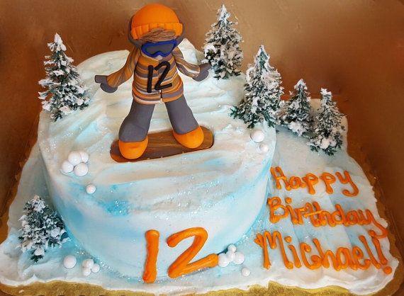 Snowboader Ornament Snowboarder Cake Topper by CalledandChosen