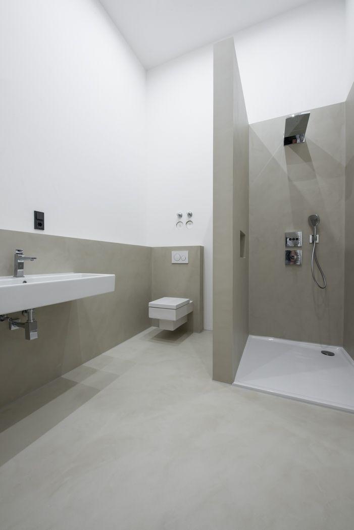 Die Experten Fur Fugenlose Bodenflachen Badezimmer Badezimmer Gestalten Badezimmer Boden