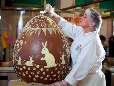 This fabulous chocolate Easter egg was made by Cadbury UK and will be auctioned off for charity.