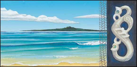 Rangitoto by Maryanne Thomsen for Sale - New Zealand Art Prints