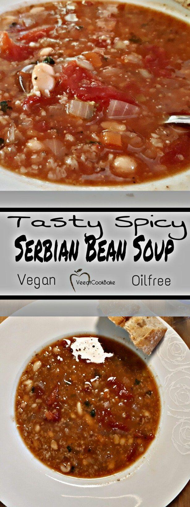 serbische bohnensuppe serbian bean soup vegan