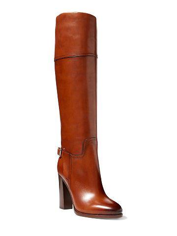 Ralph Lauren Calfskin Hazel Boot - Ralph Lauren Shop All - Ralph Lauren France
