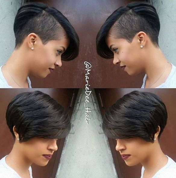 Excellent 1000 Ideas About Shaved Side Hairstyles On Pinterest Side Short Hairstyles For Black Women Fulllsitofus