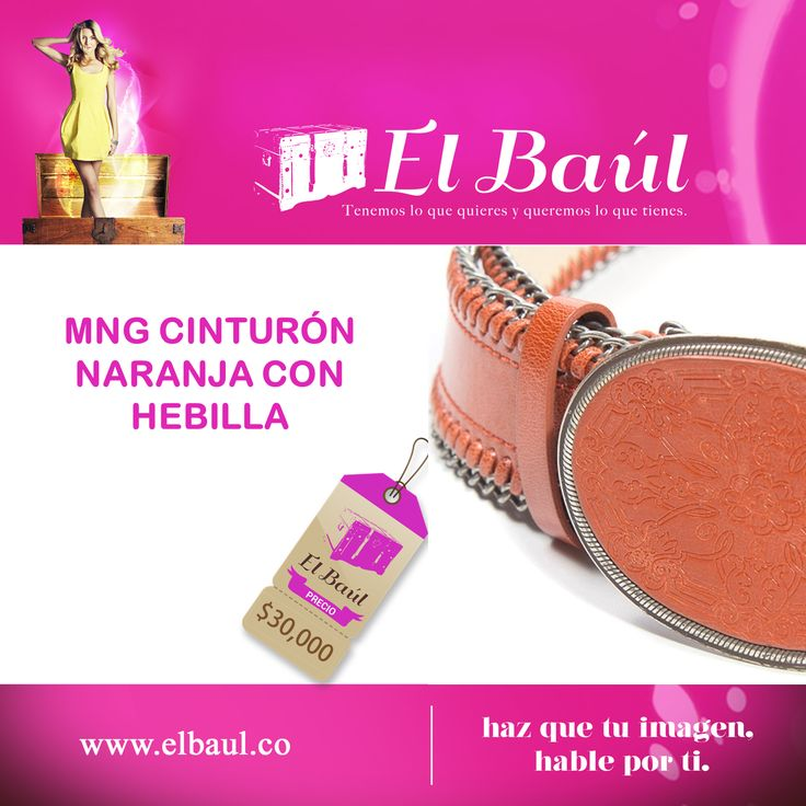 MNG cinturón naranja, recíbelo a domicilio y pagalo incluso en efectivo  $30,000  http://elbaul.co/Productos/1761/MNG-cintur%C3%B3n-naranja-con-hebilla--