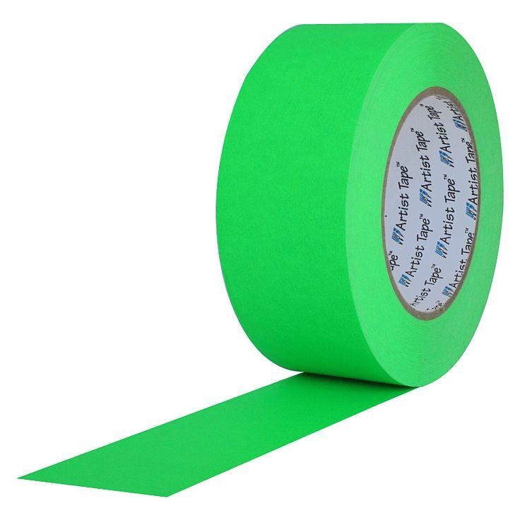 Artist Tape Fluorescent Green