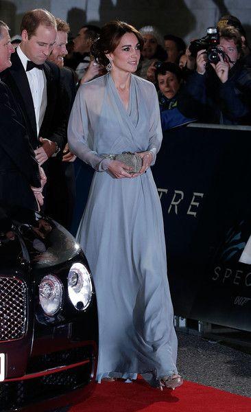 Bond Girl - Kate Middleton's powder-blue wrap gown by Jenny Packham (Photos)