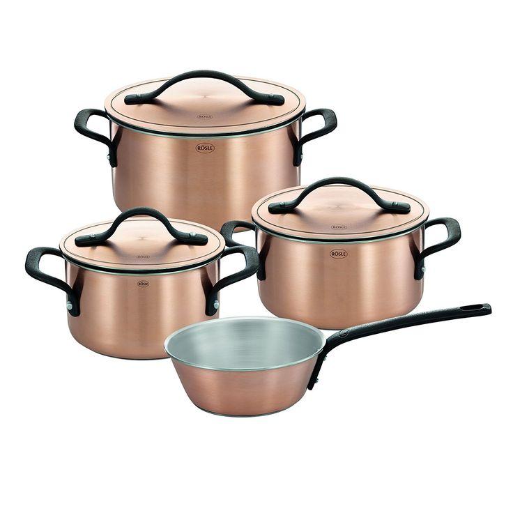 RÖSLE 91918 Chalet Topfset, 4-teilig, Kupfer, 7 Einheiten, 52 x 30 x 23 cm: Amazon.de: Küche & Haushalt