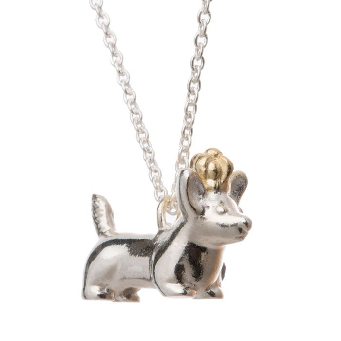 A lovely solid silver Corgipendant by Alexis Dove designed with the Queens 90th birthday in mind!