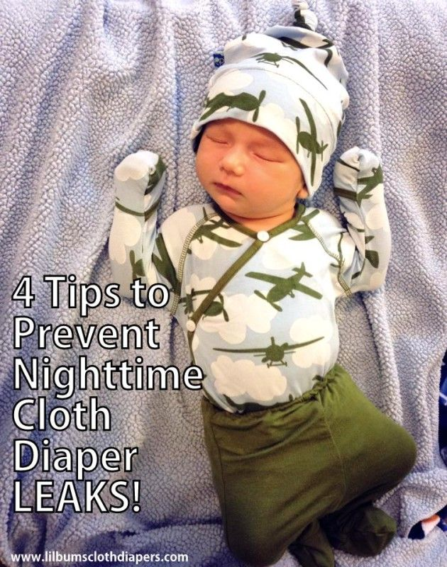 4 tips every cloth diapering mom should know about preventing cloth diaper leaks at night (or anytime)!