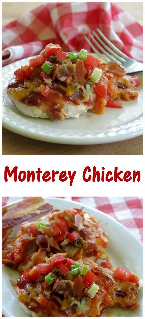 Prep this Chili's Copycat Monterey Chicken Recipe in minutes and sit back while it bakes. Tips to make it low-carb and healthier by @DinnerMom