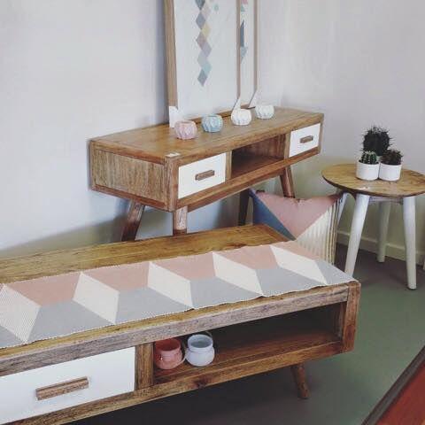Our new Stockholm furniture range sitting pretty in @dollarcurtainsandblinds Mornington #newstock #furniture #timber #homewares #home #dcb #dcbdesigns #dcbmornington #interiordesign #interiors #pastels
