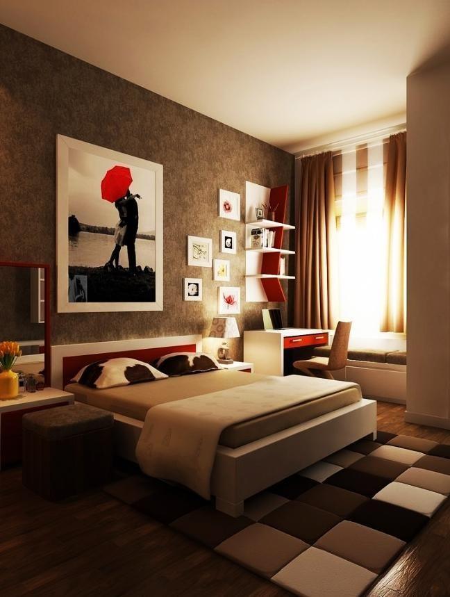 Bedroom Pillows Brown Bed Linen Soft Brown Blanket And Bedroom Design With  Squares Shaped Of Floor. 24 best Bedroom Interior images on Pinterest   Bedroom designs