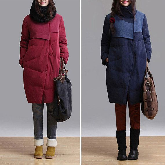 2colors duck down linen wine red  Down jacket  women by Aolo, $179.00