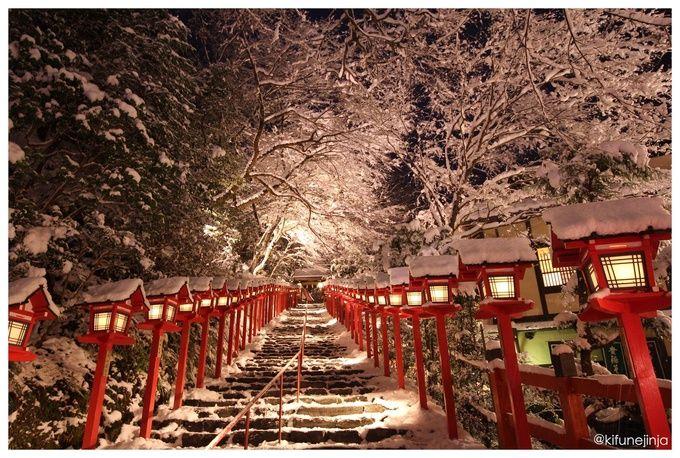 冬の夜の幻想!貴船神社の「雪の日限定ライトアップ」が美しすぎる