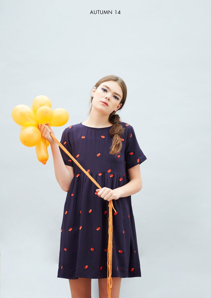 T-Shirt Smock Dress in Bean Embroidery http://www.thewhitepepper.com/collections/dresses/products/t-shirt-smock-dress-in-bean-embroidery