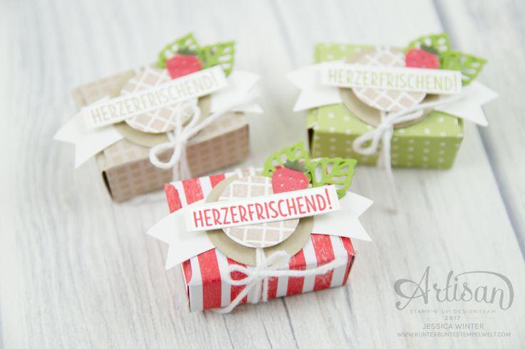 Strampin´ Up! - Mini Tic Tac Verpackung - Stanz und Falzbrett für Umschläge - Envelope Punch Board - Eis, Eis, Baby - Designerpapier Genussmomente - 6