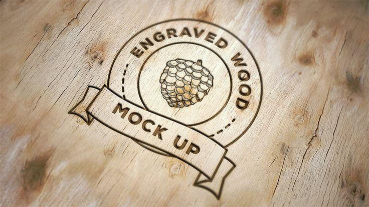 Free Engraved Wood Mock Up