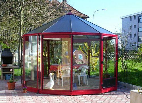 31 best glaspavillons rund images on pinterest. Black Bedroom Furniture Sets. Home Design Ideas