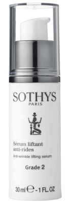 Sothys Anti-Wrinkle Lifting Serum - Grade 2, 1 oz Sothys Anti-Wrinkle Lifting Serum Grade 2 targets wrinkles using hyaluronic acid in solution (for an injection-like effect) and anti-wrinkle pentapeptides (to stimulate collagen synthesis).