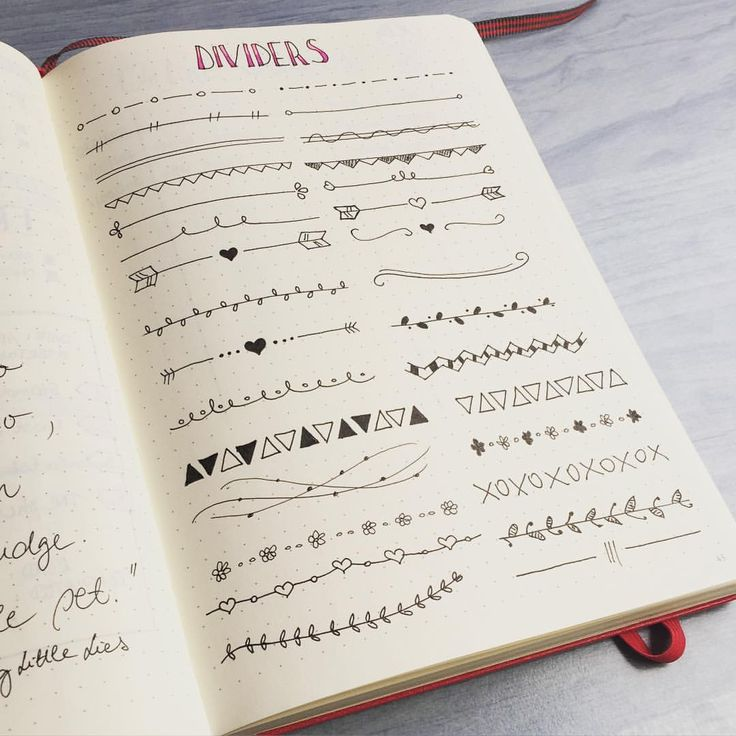Pretty Dividers! Bullet journal #bulletjournal