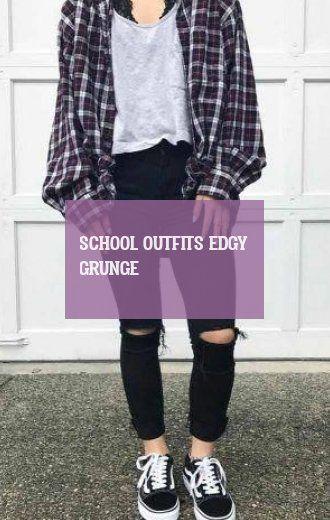 school outfits edgy grunge | schulausstattungen nervös grunge #school #outfits #edgy #grunge 2020