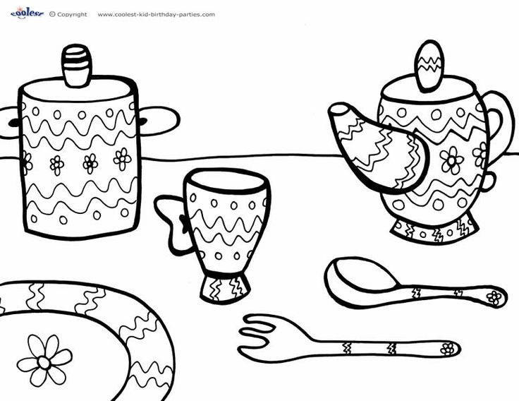 printable tea party coloring page 3 coolest free printables