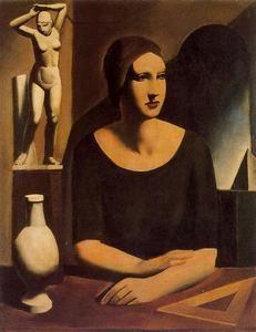 """""""Solitude"""", 1926 by Mario Sironi (1885-1961, Sardinia)"""