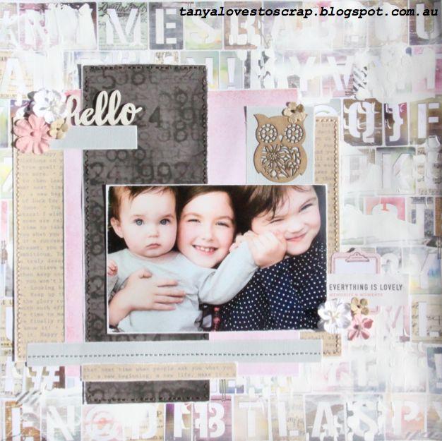 #scrapbooking #layout #girls #mixedmedia #craft tanyalovestooscrap.blogspot.com.au