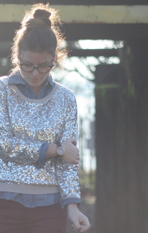 Sequin Sweater // frames