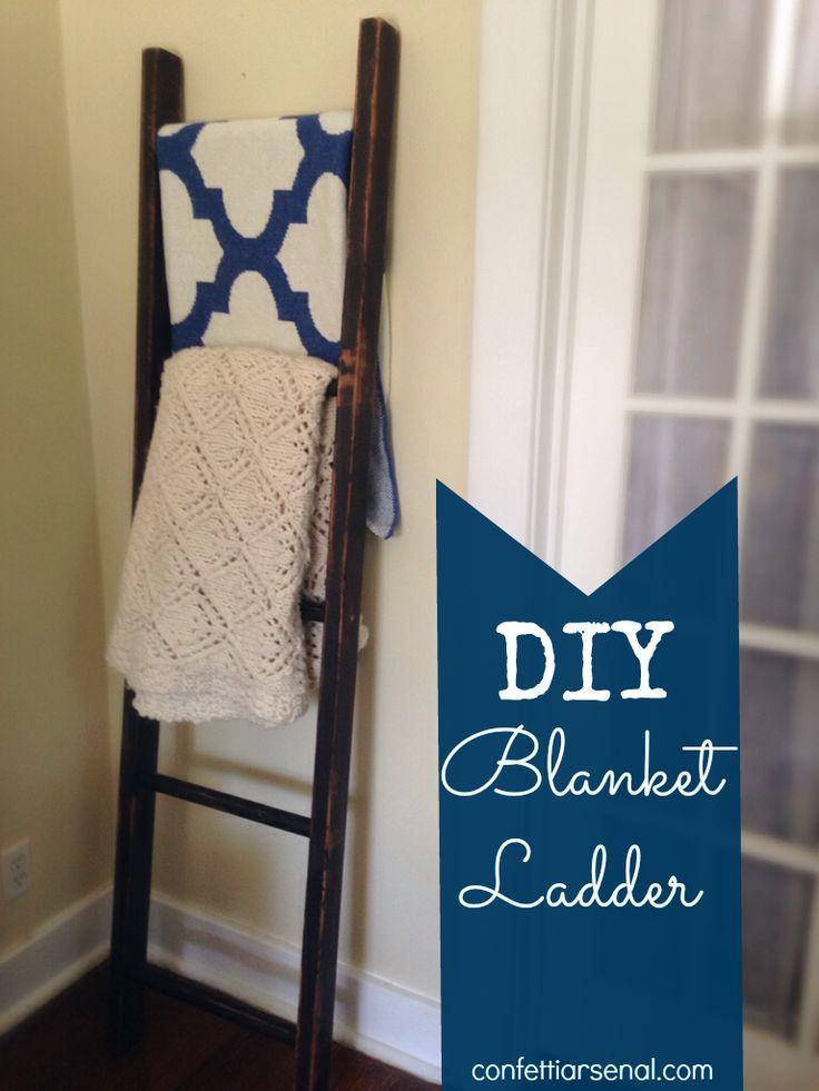 DIY Blanket Ladder - Easy Afternoon Project!