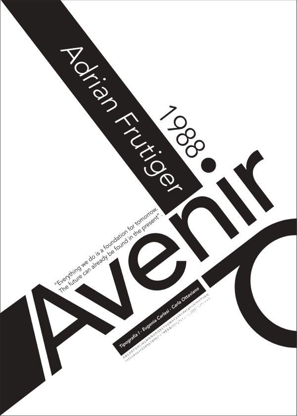 AVENIR - afiche tipográfico on Behance